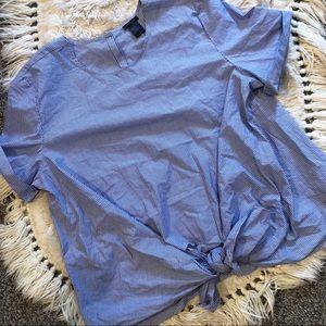 Ann Taylor tie front blouse